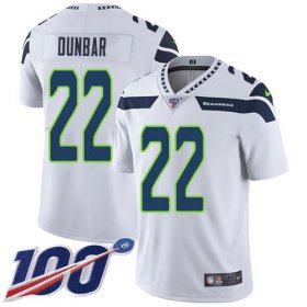 Wholesale Cheap Nike Seahawks #22 Quinton Dunbar White Youth Stitched NFL 100th Season Vapor Untouchable Limited Jersey