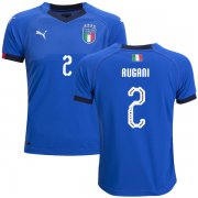 Wholesale Cheap Italy #2 Rugani Home Kid Soccer Country Jersey