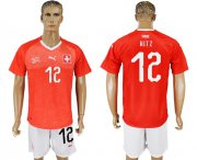 Wholesale Cheap Switzerland #12 Hitz Red Home Soccer Country Jersey