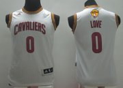 Wholesale Cheap Men's Cleveland Cavaliers #0 Kevin Love White 2017 The NBA Finals Patch Jersey