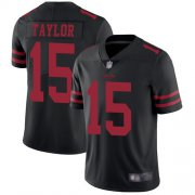 Wholesale Cheap Nike 49ers #15 Trent Taylor Black Alternate Men's Stitched NFL Vapor Untouchable Limited Jersey