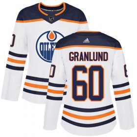 Wholesale Cheap Adidas Oilers #60 Markus Granlund White Road Authentic Women\'s Stitched NHL Jersey