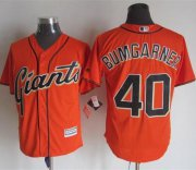 Wholesale Cheap Giants #40 Madison Bumgarner Orange Alternate New Cool Base Stitched MLB Jersey