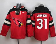 Wholesale Cheap Nike Cardinals #31 David Johnson Red Player Pullover NFL Hoodie