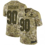 Wholesale Cheap Nike Saints #90 Malcom Brown Camo Youth Stitched NFL Limited 2018 Salute to Service Jersey