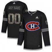Wholesale Cheap Men's Adidas Canadiens Personalized Authentic Black Classic NHL Jersey