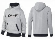 Wholesale Cheap Chicago White Sox Pullover Hoodie Grey