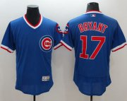 Wholesale Cheap Cubs #17 Kris Bryant Blue Flexbase Authentic Collection Cooperstown Stitched MLB Jersey