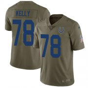 Wholesale Cheap Nike Colts #78 Ryan Kelly Olive Youth Stitched NFL Limited 2017 Salute to Service Jersey