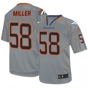 Wholesale Cheap Nike Broncos #58 Von Miller Lights Out Grey Youth Stitched NFL Elite Jersey