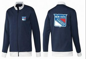 Wholesale Cheap NHL New York Rangers Zip Jackets Dark Blue