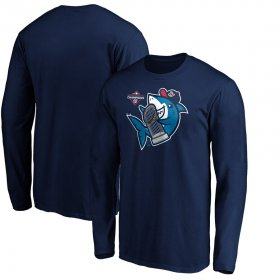 Wholesale Cheap Washington Nationals Majestic 2019 World Series Champions Trophy Shark Long Sleeve T-Shirt Navy