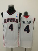 Wholesale Cheap Men's Atlanta Hawks #4 Paul Millsap White Swingman Jersey
