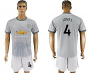 Wholesale Cheap Manchester United #4 Jones Sec Away Soccer Club Jersey