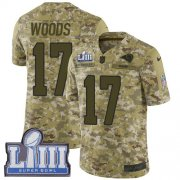 Wholesale Cheap Nike Rams #17 Robert Woods Camo Super Bowl LIII Bound Youth Stitched NFL Limited 2018 Salute to Service Jersey
