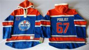 Wholesale Cheap Oilers #67 Benoit Pouliot Light Blue Sawyer Hooded Sweatshirt Stitched NHL Jersey