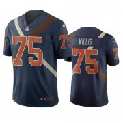 Wholesale Cheap Cincinnati Bengals #75 Jordan Willis Navy Vapor Limited City Edition NFL Jersey