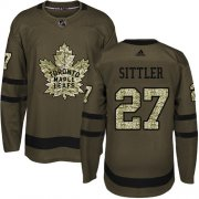 Wholesale Cheap Adidas Maple Leafs #27 Darryl Sittler Green Salute to Service Stitched NHL Jersey