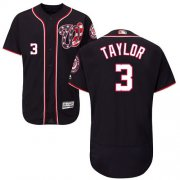 Wholesale Cheap Nationals #3 Michael Taylor Navy Blue Flexbase Authentic Collection Stitched MLB Jersey