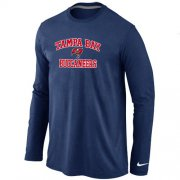 Wholesale Cheap Nike Tampa Bay Buccaneers Heart & Soul Long Sleeve T-Shirt Dark Blue