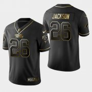 Wholesale Cheap Carolina Panthers #26 Donte Jackson Vapor Limited Black Golden Jersey