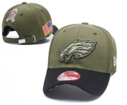 Wholesale Cheap NFL Philadelphia Eagles Team Logo Olive Peaked Adjustable Hat
