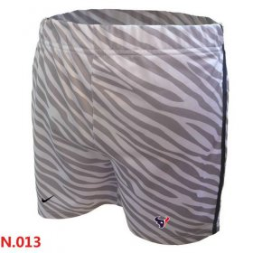 Wholesale Cheap Women\'s Nike NFL Houston Texans Embroidered Team Logo Zebra Stripes Shorts