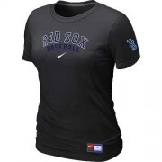 Wholesale Cheap Women's Boston Red Sox Nike Short Sleeve Practice MLB T-Shirt Black
