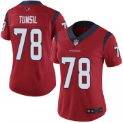 Wholesale Cheap Nike Texans #78 Laremy Tunsil Red Alternate Women's Stitched NFL Vapor Untouchable Limited Jersey