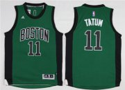 Wholesale Cheap Boston Celtics #11 Jayson Tatum Green Swingman Jersey