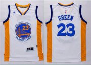 Wholesale Cheap Men's Golden State Warriors #23 Draymond Green Revolution 30 Swingman 2014 New White Jersey