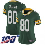 Wholesale Cheap Nike Packers #80 Jimmy Graham Green Team Color Women's Stitched NFL 100th Season Vapor Limited Jersey