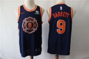 Wholesale Cheap Knicks 9 R.J. Barrett Navy City Edition Nike Swingman Jersey