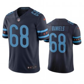 Wholesale Cheap Chicago Bears #68 James Daniels Navy Vapor Limited City Edition NFL Jersey