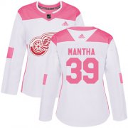 Wholesale Cheap Adidas Red Wings #39 Anthony Mantha White/Pink Authentic Fashion Women's Stitched NHL Jersey