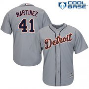 Wholesale Cheap Tigers #41 Victor Martinez Grey Cool Base Stitched Youth MLB Jersey