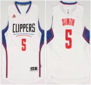 Wholesale Cheap Los Angeles Clippers #5 Josh Smith Revolution 30 Swingman 2015 New White Jersey