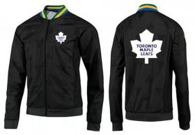 Wholesale Cheap NHL Toronto Maple Leafs Zip Jackets Black-3