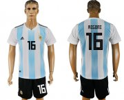 Wholesale Cheap Argentina #16 Rigoni Home Soccer Country Jersey
