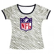 Wholesale Cheap Women's NFL Sideline Legend Authentic Logo Zebra Stripes T-Shirt