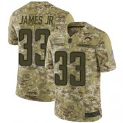 Wholesale Cheap Nike Chargers #33 Derwin James Jr Camo Men's Stitched NFL Limited 2018 Salute To Service Jersey