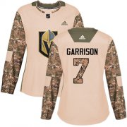Wholesale Cheap Adidas Golden Knights #7 Jason Garrison Camo Authentic 2017 Veterans Day Women's Stitched NHL Jersey