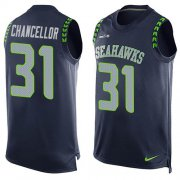 Wholesale Cheap Nike Seahawks #31 Kam Chancellor Steel Blue Team Color Men's Stitched NFL Limited Tank Top Jersey