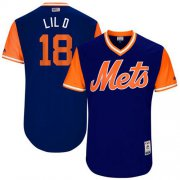 "Wholesale Cheap Mets #18 Travis d'Arnaud Royal ""Lil D"" Players Weekend Authentic Stitched MLB Jersey"