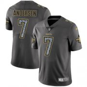 Wholesale Cheap Nike Saints #7 Morten Andersen Gray Static Men's Stitched NFL Vapor Untouchable Limited Jersey