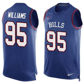Wholesale Cheap Nike Bills #95 Kyle Williams Royal Blue Team Color Men\'s Stitched NFL Limited Tank Top Jersey