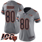 Wholesale Cheap Nike Bears #80 Jimmy Graham Silver Women's Stitched NFL Limited Inverted Legend 100th Season Jersey