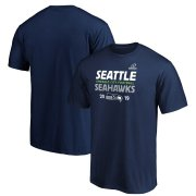 Wholesale Cheap Seattle Seahawks 2019 NFL Playoffs Bound Hometown Checkdown T-Shirt College Navy