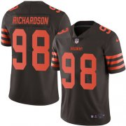 Wholesale Cheap Nike Browns #98 Sheldon Richardson Brown Men's Stitched NFL Limited Rush Jersey