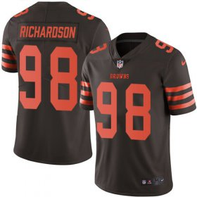Wholesale Cheap Nike Browns #98 Sheldon Richardson Brown Men\'s Stitched NFL Limited Rush Jersey